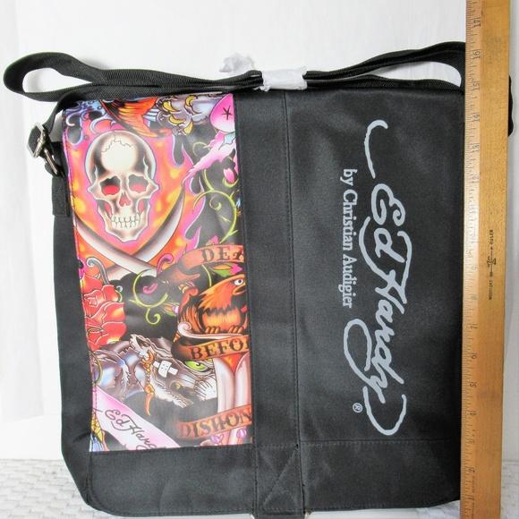 b17ddc8a123 Ed Hardy Bags   Nwot Large Laptop Tote Messenger Bag   Poshmark
